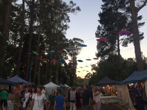 Market stalls at Nannup music festival