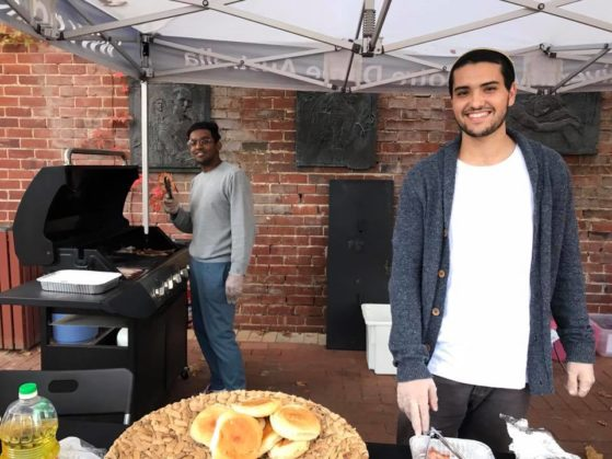 Homeless: Gareth and Aharon cooking up a delicious breakfast!
