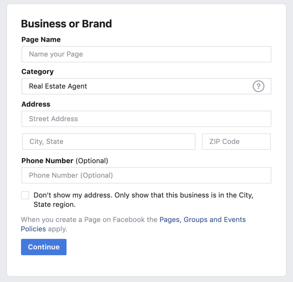 Business or Brand Information