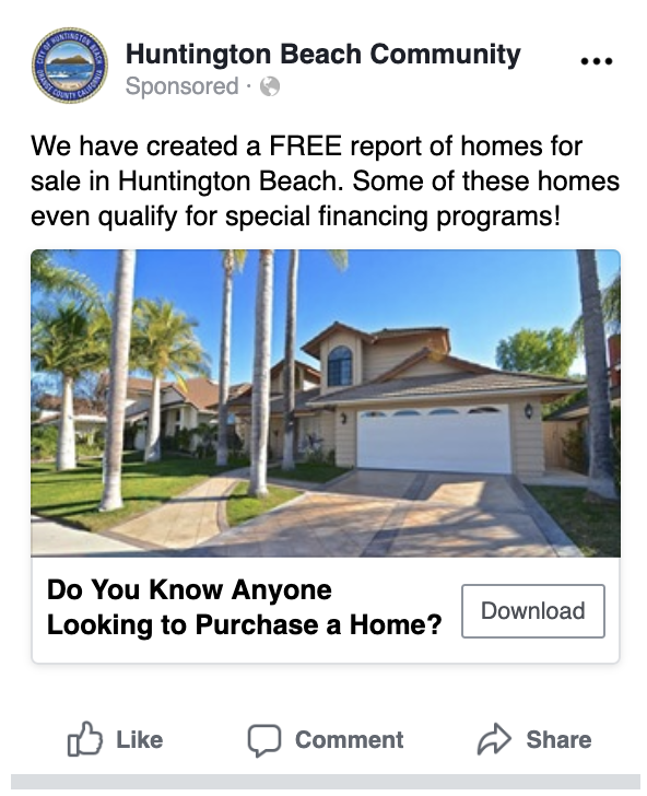 Free Home Report Ad