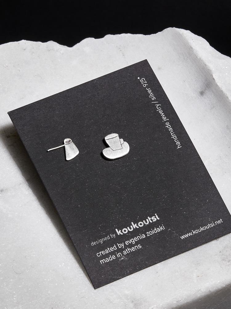 Greek Coffee Earrings — koukoutsi