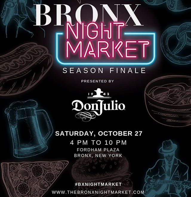 10 more days left until the season finale of @thebronxnightmarket ! Who is ready to come enjoy the final night of great entertainment and good eats?! It's countdown time! #bxnightmarket @bloxnyc