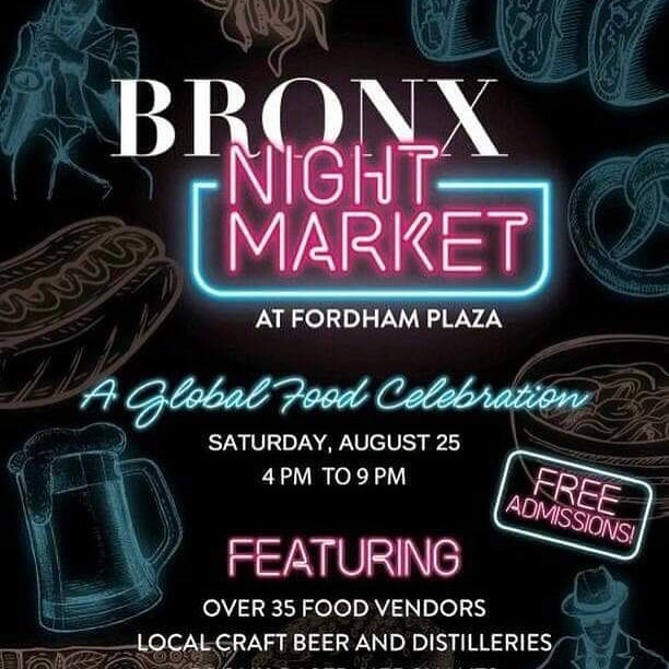One more week until @thebronxnightmarket! There will be more vendors, which means more food! 🤤 Live music, amazing  people and delicious food, what more can you ask for? Remember, come early and come hungry! @bloxnyc #bxnightmarket From 4PM - 9PM At 1 Fordham Plaza Bronx, NY