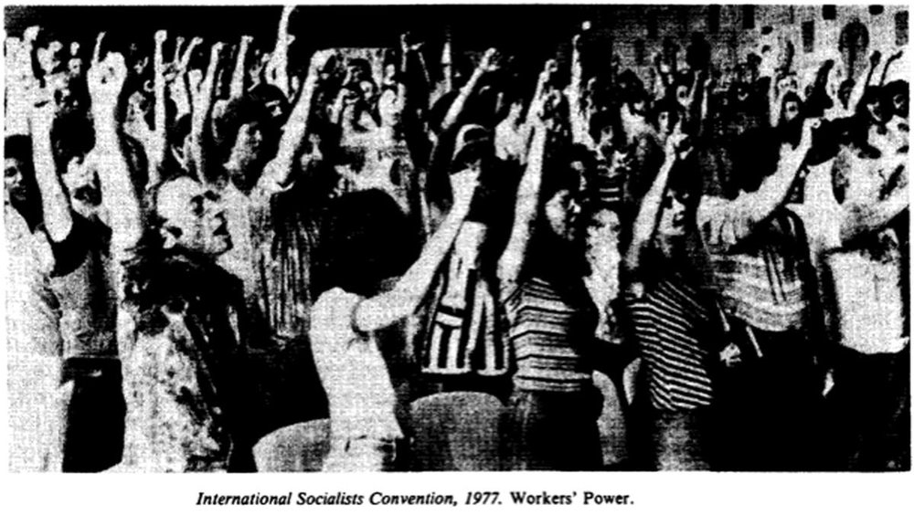 IS Convention in 1977, image from the now defunct  Radical America  journal.