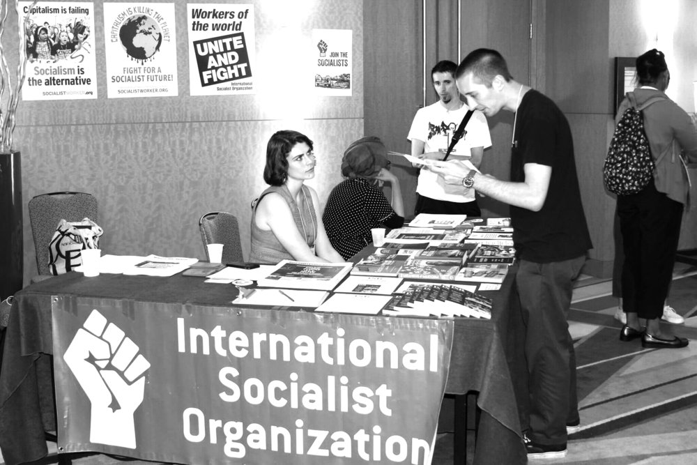 ISO table at Socialism 2018.
