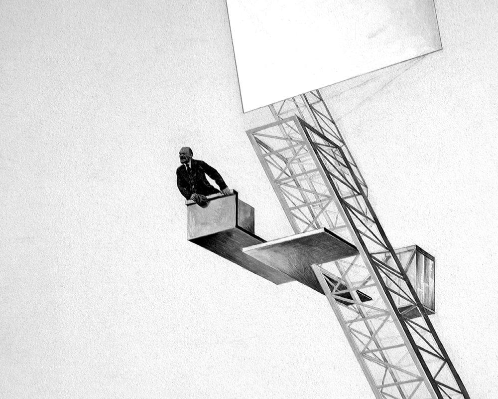 El Lissitzky,  Lenin Tribune,  1920 (detail).