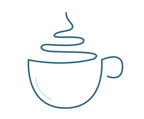 Coffee icon symbolizing community building and connection