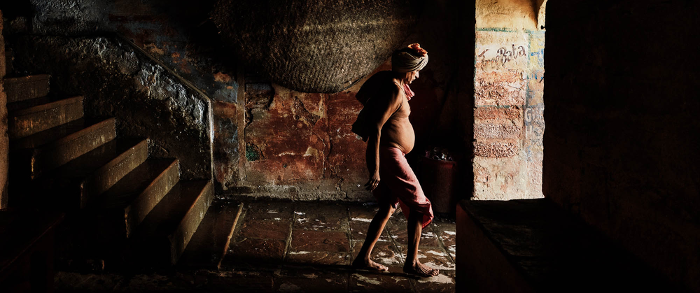 Morning rituals, Varanasi, India