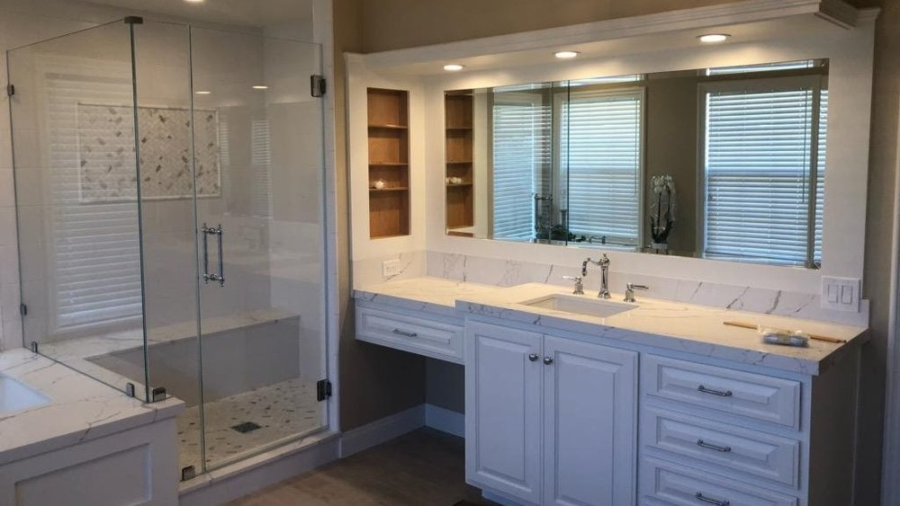 Shower Doors - We have a vast selection and custom options. Frameless shower doors. Sliding shower doors. Optiwhite, Crystal Clear and Starfire glass. Surface protector sealer. Huge selection of custom bathroom hardware. Steam doors. Curved glass. Tub & Shower enclosures. Variety of metal and glass. Plus more…