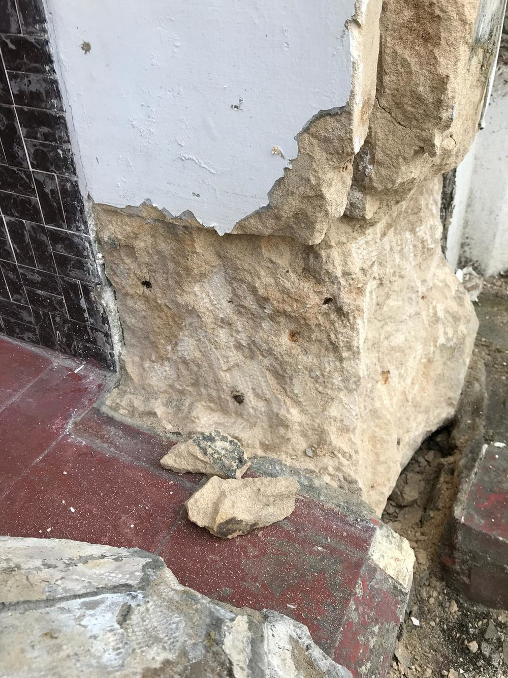 Stone Repair Project 3 - Before