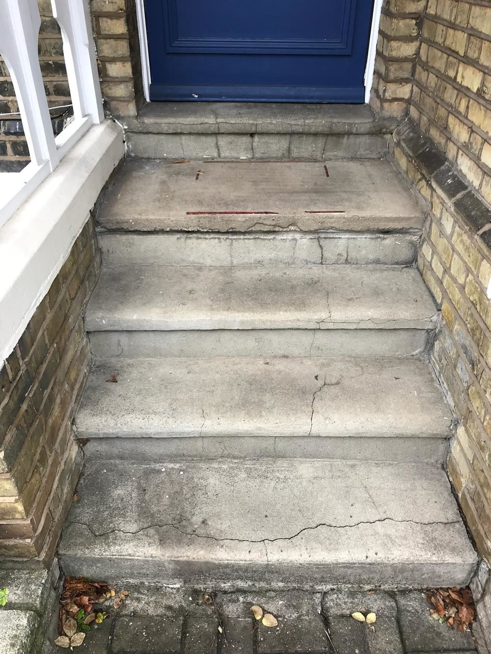 Stone Replacements and Restoration Project 6 - Before