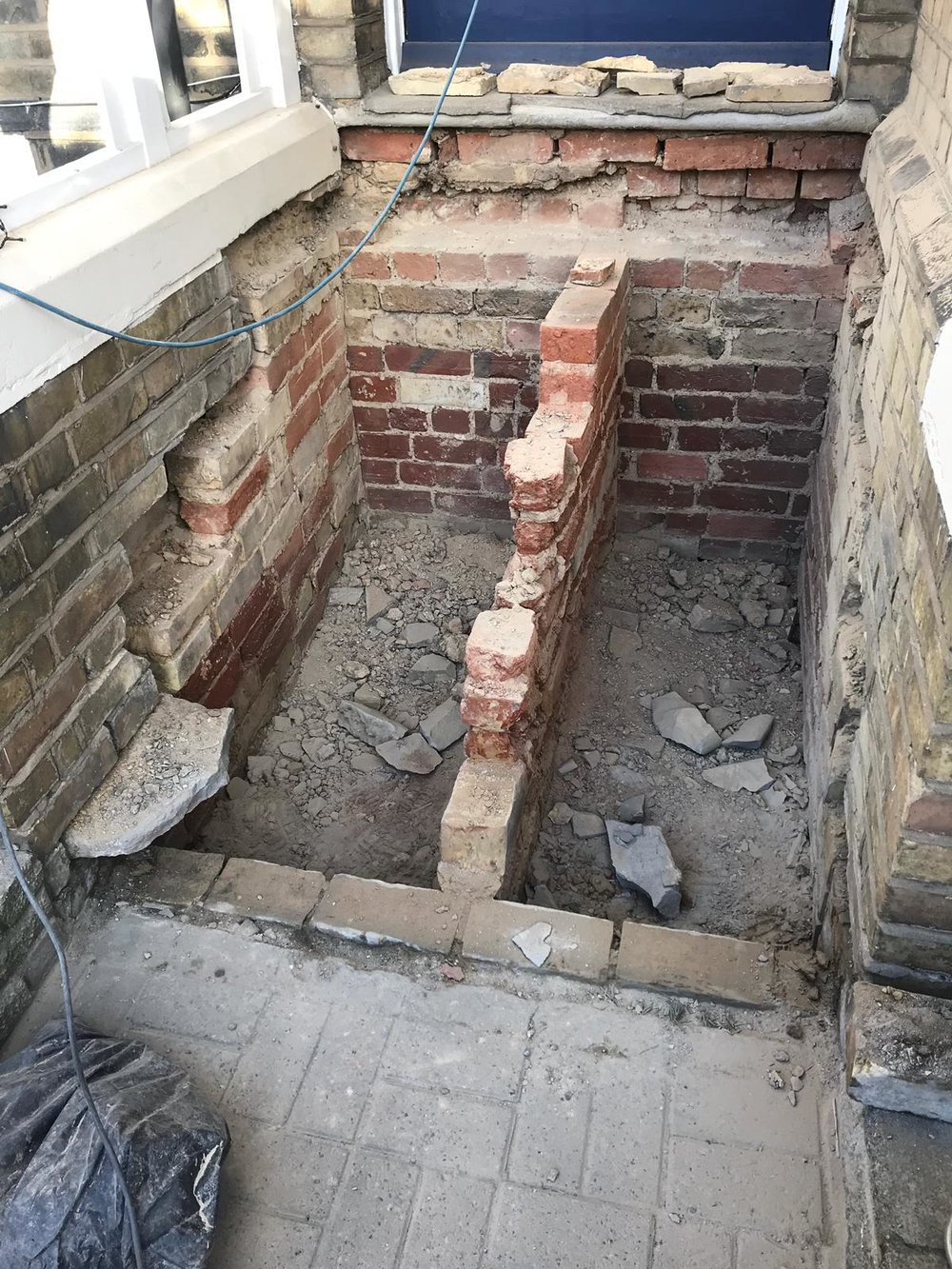 Stone Replacements and Restoration Project 6 - During