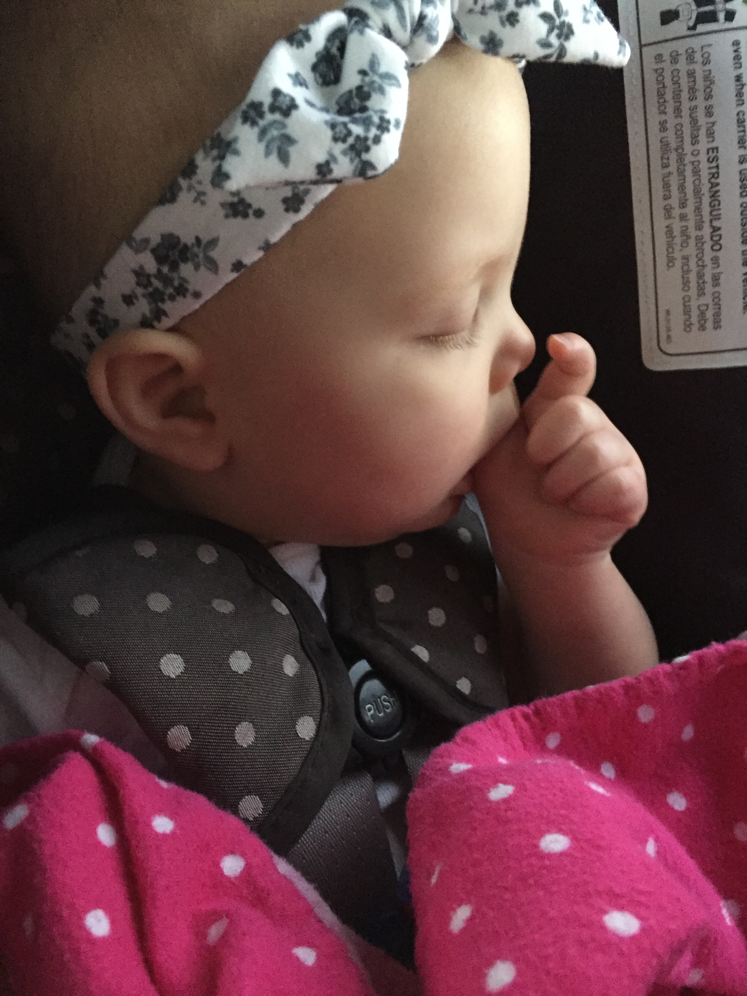 Little Miss was out before we crossed the county line. It's hard work being so cute….a girl has to get her rest!