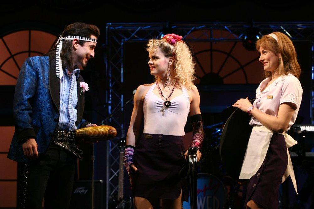 Matthew Saldivar, Amy Spanger, and Laura Benanti