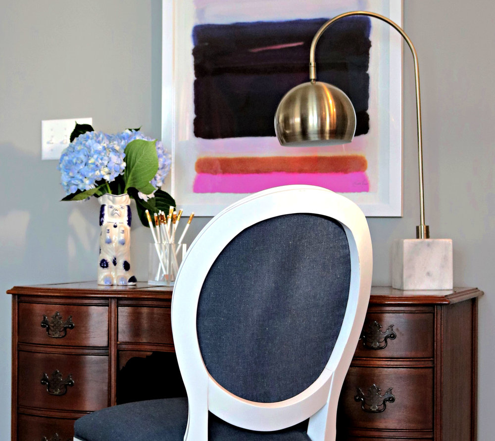kelle dame interiors blue and white desk office.jpg