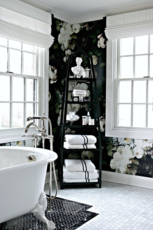 Kelle Dame Interiors Master Bathroom Black and White.jpg