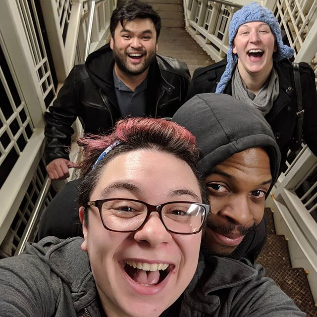 Happiness is realizing that we can all take the same train and hang out for a few more stops.