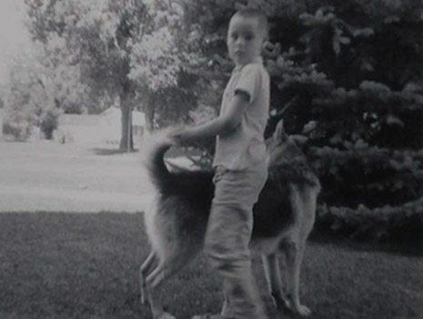Wayne Curry with pet