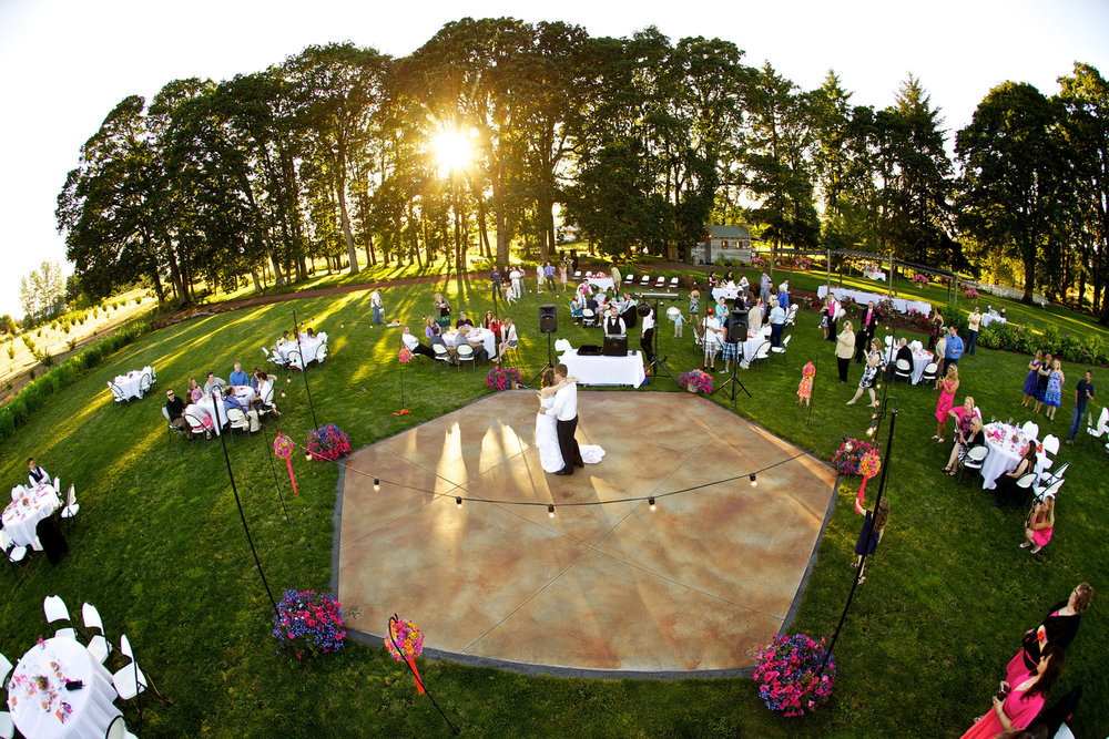 Outdoor Dance Floor & Reception Area