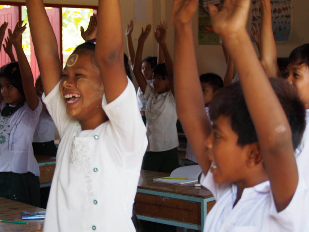 FED-   Burmese children at the Foundation for Education and Development's (FED) learning centre in Phang Nga, Thailand