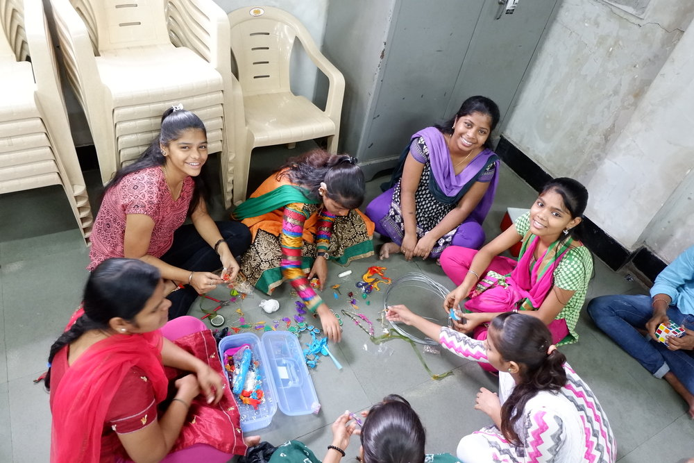 CORP India   A group of girls with hearing impairment learn new skills and receive support through CORP's differently abled programme.