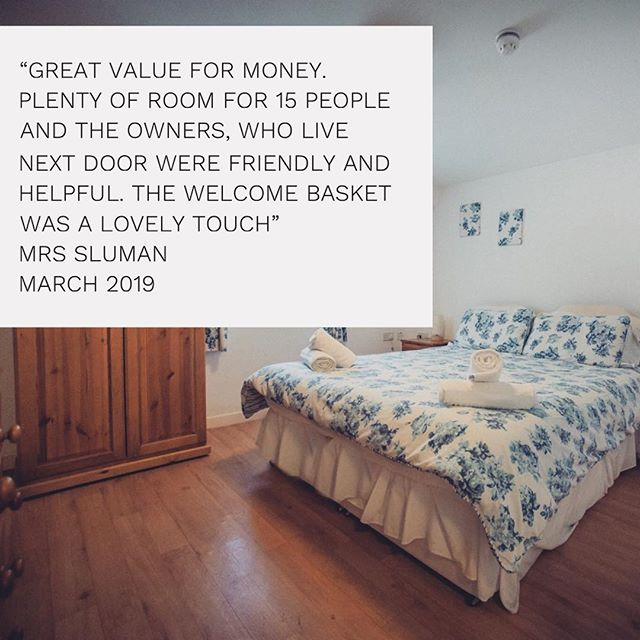 It's #testimonialtuesday 🙌🏻🌱☀️ Here's the most recent testimonial from Mrs Sluman who stayed for 2 nights last month for a family celebration 🛏🏡 Available dates for this year are booking up fast!  To avoid disappointment, if you are thinking about booking a holiday with us, pop us an email 📧 to enquiries@greyhoundbarn.co.uk to check availability and prices 😁  Have a great day!  #cotswolds #costwoldholidayhome #weddingaccomodation #barnsleygloucestershire #bibury #cotswoldvillages #costwoldgetaways #cotswoldholidays #cirencester #cheltenham #ukholidays #countryside #crippsbarn #ukgetaway #ukholiday #jennersbarn #greyhoundbarn #gloucestershire