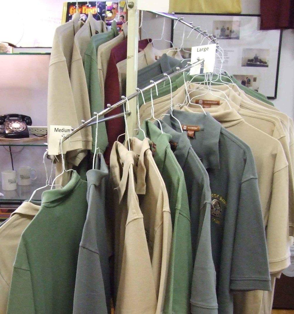 Men's Shirts - Comfortable short sleeved shirtsPolo Shirts - sizes S/M/L - $25sizes XL/ 2XL - $27TEE Shirts - sizes S/M/L $15sizes X?/ 2XL $17