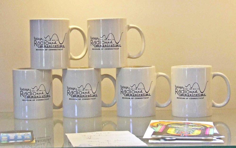 Mugs - Enjoy a mug of coffee or tea…Mugs have museum logo and are dishwasher safe!$5 each