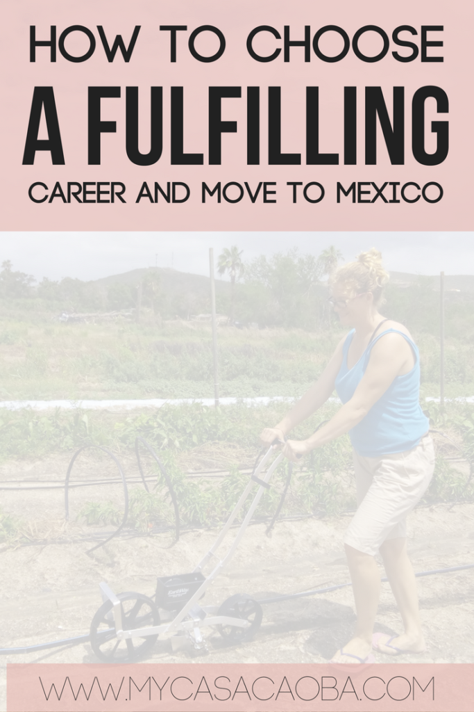 How to choose a fulfilling career that maximizes your physical and mental well-being. And how to move to Mexico! Read the whole story....
