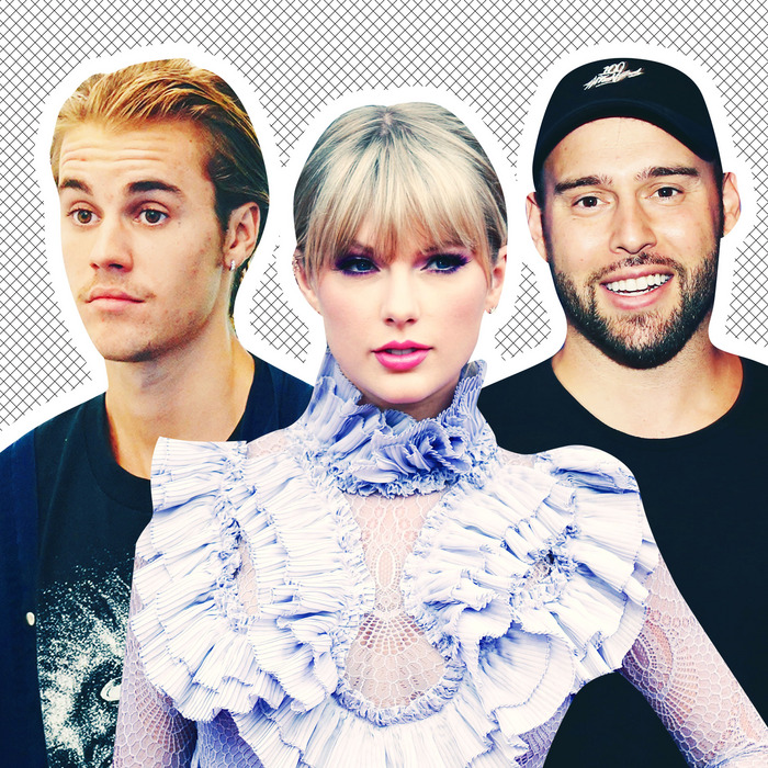 Image result for taylor swift scooter braun and justin bieber