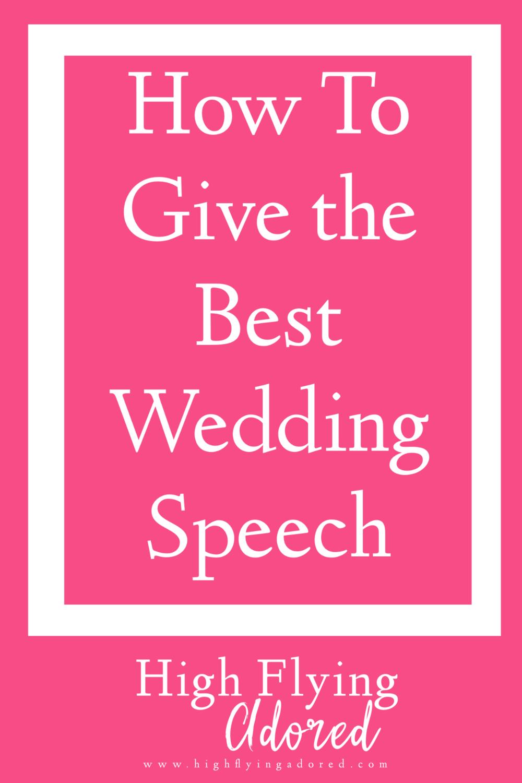 Best Wedding Speeches.How To Give The Best Wedding Speech Caroline Winanna Bright
