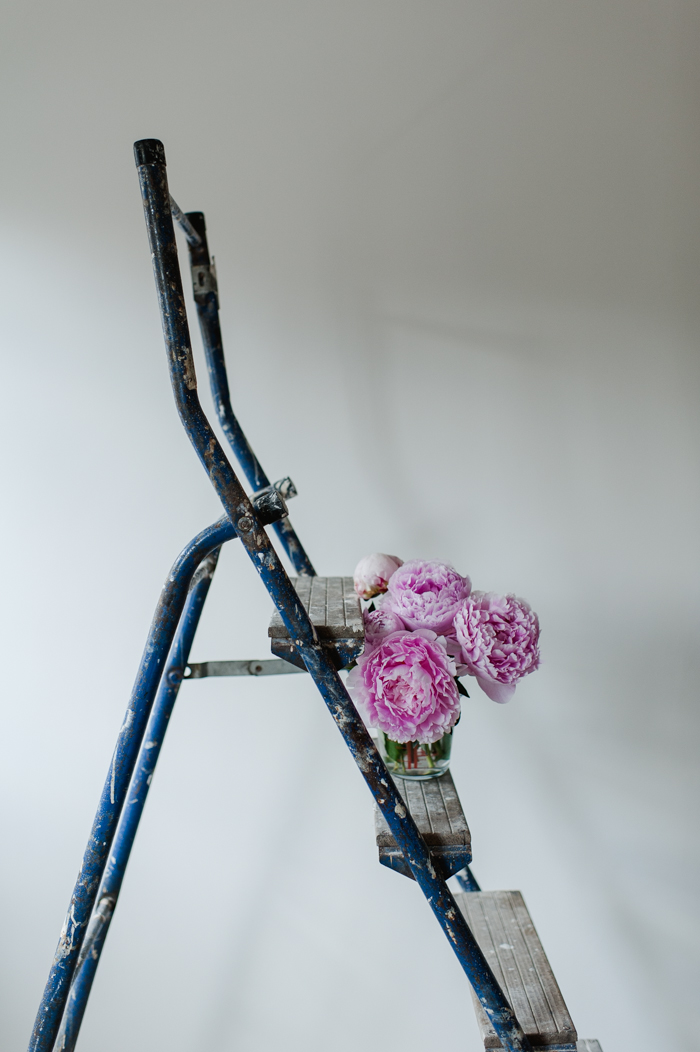 peonies on a ladder-1-2