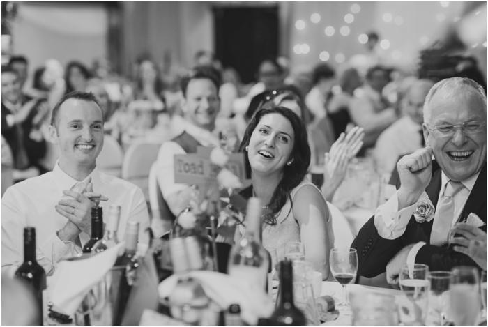 Bridesmaid laughing at speeches wedding_0031