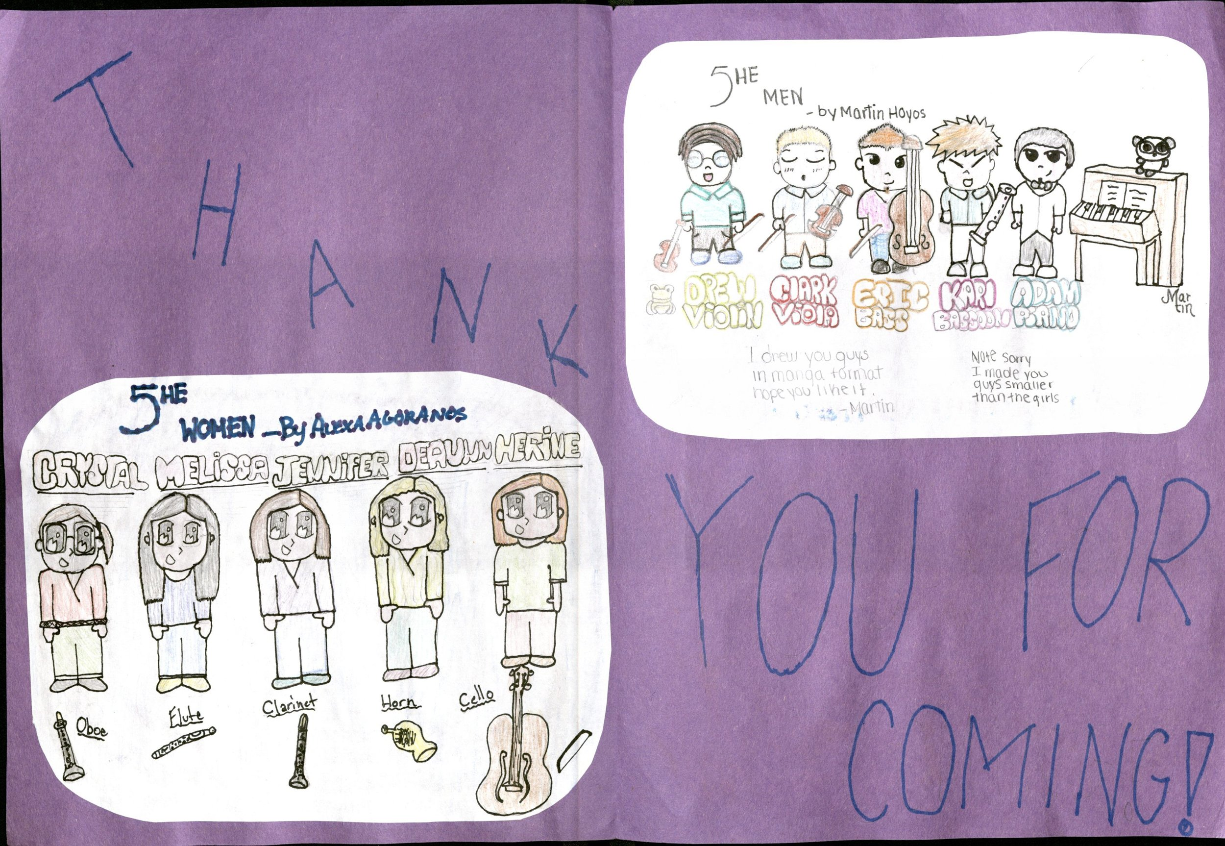 These students at Cambridge Lakes went all out in their Thank You note!!