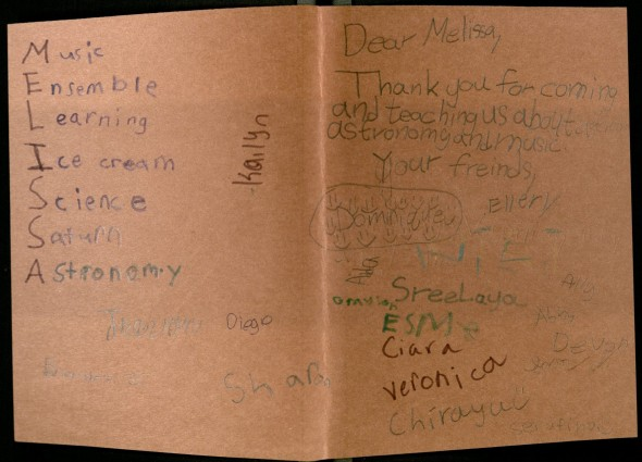 Another creative Thank you from students at Cambridge Lakes