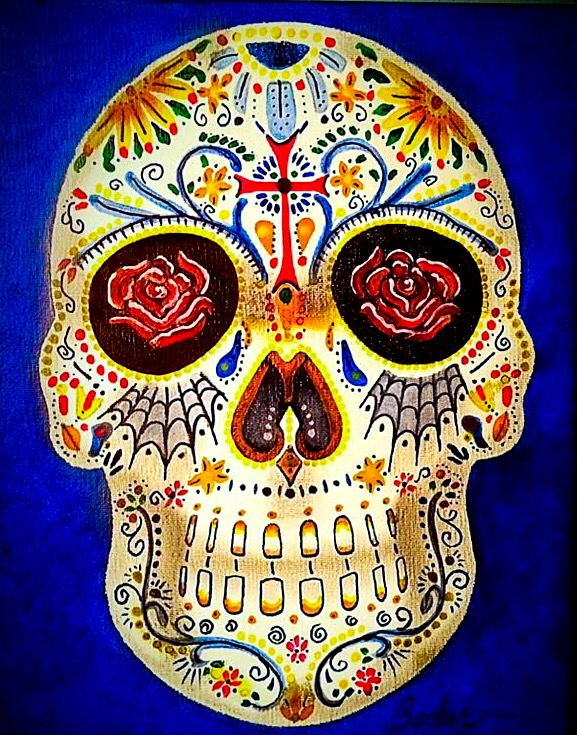 """""""THE SKULL"""" - ACRYLICS ON CANVASSOLD"""