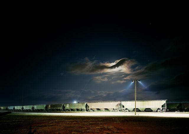 © Victoria Sambunaris, Untitled (Night Train), Galveston, Texas