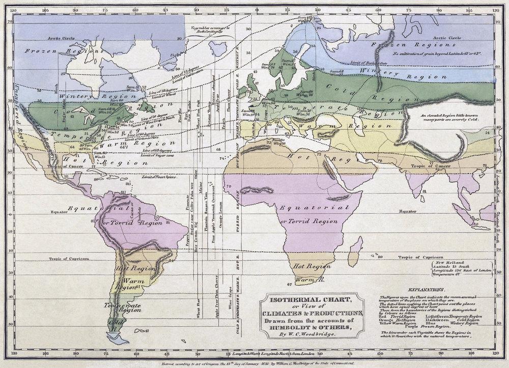 W.C. Woodbridge, Isothermal Chart 1837