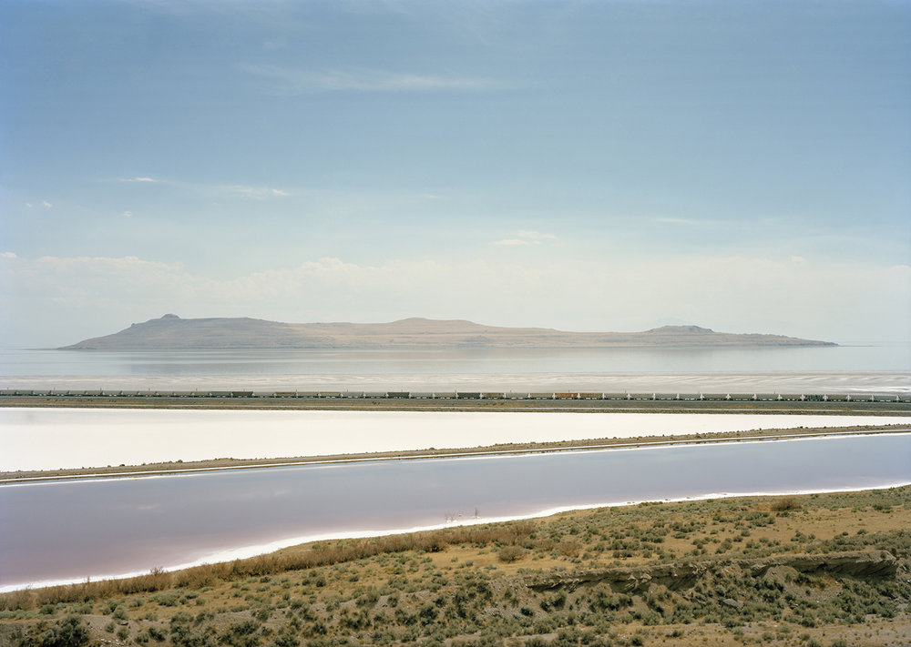 © Victoria Sambunaris, Untitled (Train Crossing), Great Salt Lake, Utah
