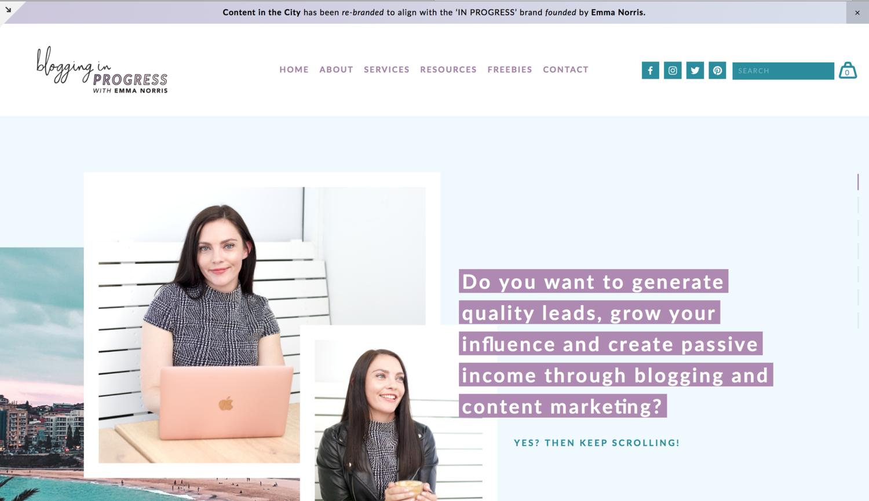 Blogging in Progress