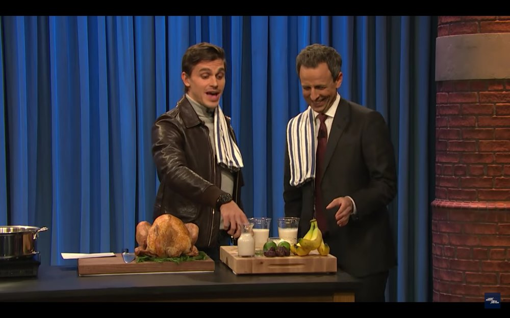 Queer Eye's Antoni Porowski Shows Seth How to Cook Thai Turkey Bowls - - Late Night with Seth Meyers