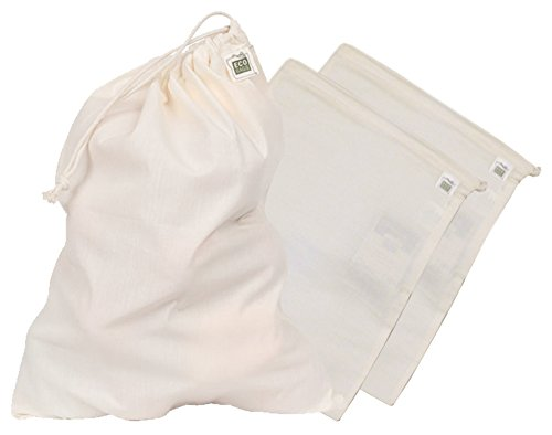 Eco Bags Reusable Produce Bag, 3 Pack - I use these for bulk and produce items. Eco Bags are great quality and they already have the tare weight on the tag.