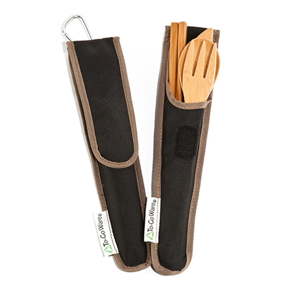 ToGo Ware Bamboo Travel Utensils - You never know when single use plastic cutlery is going to be the only option. Be prepared to refuse single use by carrying this stylish set.