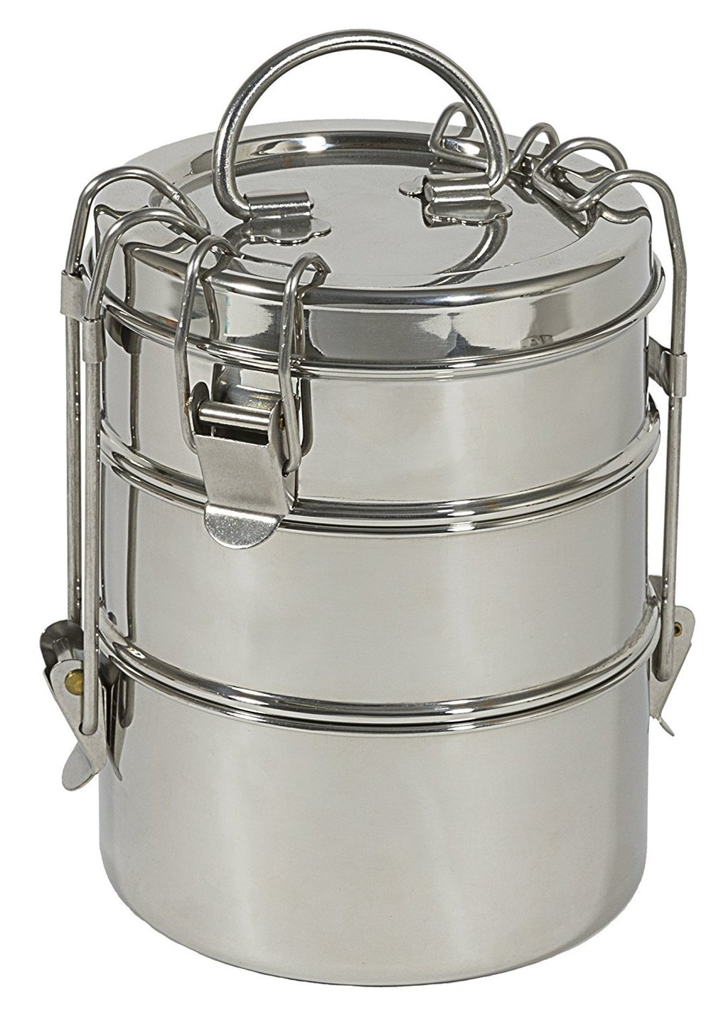 3 Tier Stainless Lunch Box - Adulting lunch box. Super sleek and zero waste. Can carry the top tier on its own or both together.