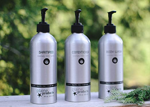 Plaine Products Shampoo, Conditioner & Body Wash - These smell wonderful. Both my husband and I use these and love them. Refillable and in sustainable packaging. Eco win!