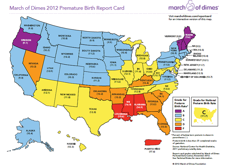 march of dimes map