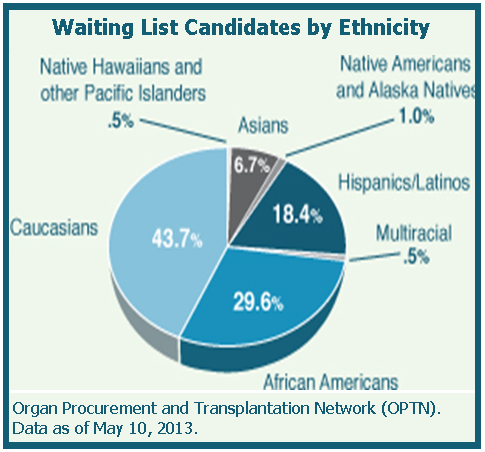 Waiting List by Ethnicity