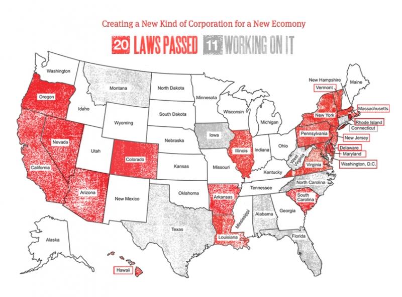 social benefit corp map