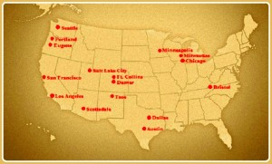 bronze radio  map