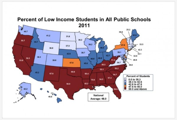 percent low income in schools